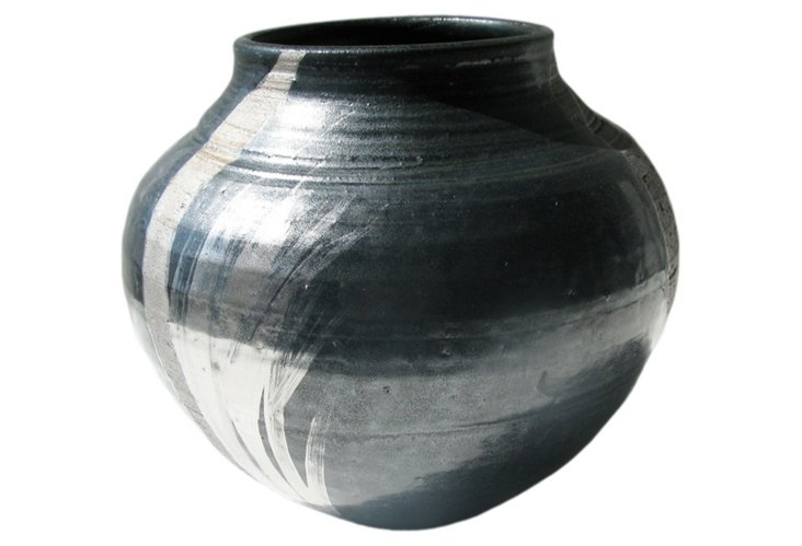 Wheel-thrown Firestorm Vase, Platinum