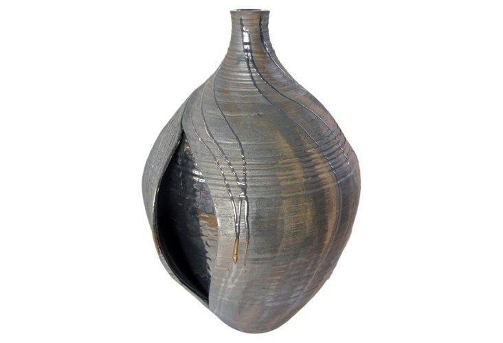 Tall Wheel-thrown Urban Vase