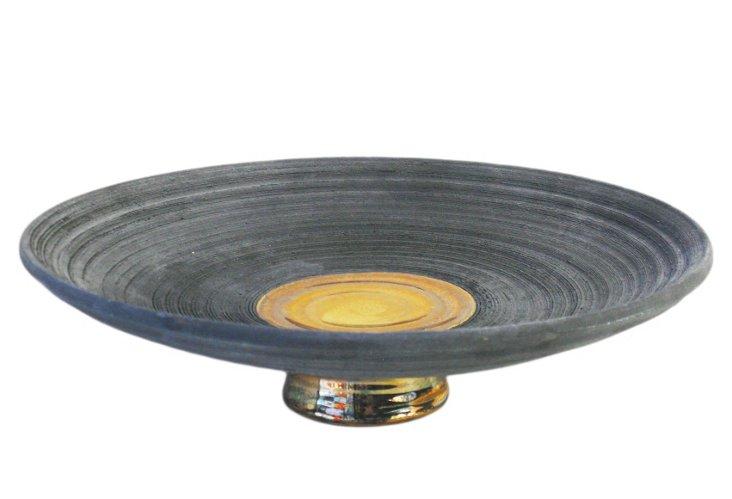 """13"""" Wheel-thrown Vortex Footed Platter"""