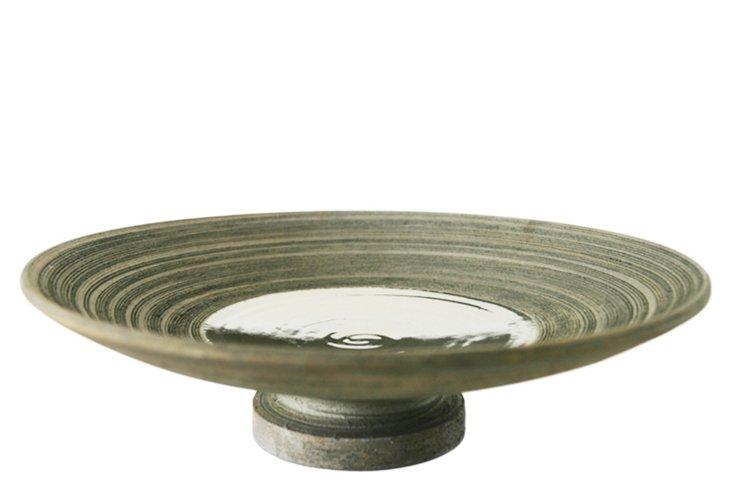 Vortex Footed Centerpiece, Platinum