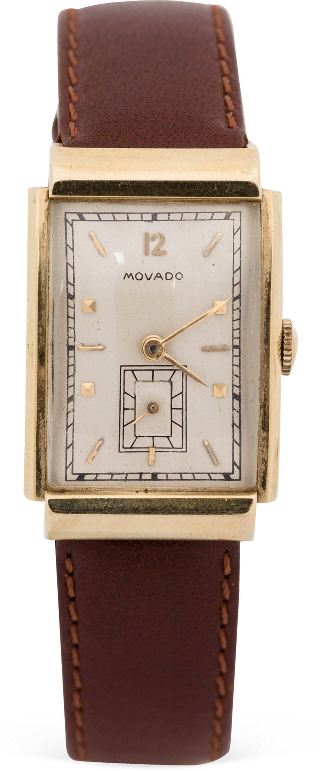1940s Yellow Gold Movado Watch