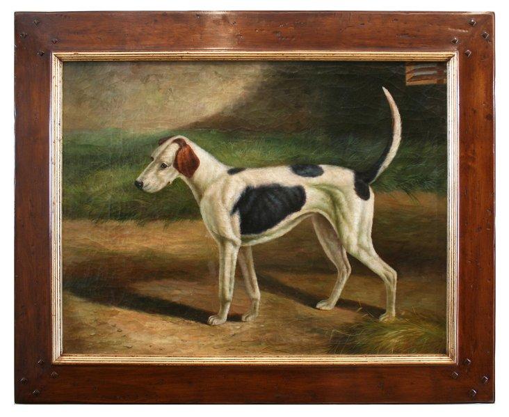 Dog Near Barn