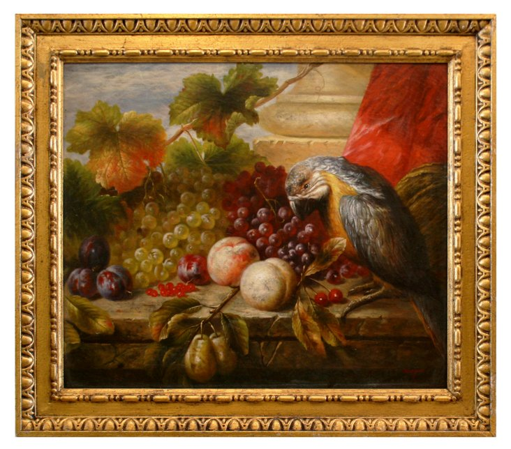 Still Life - Fruit with Parrot