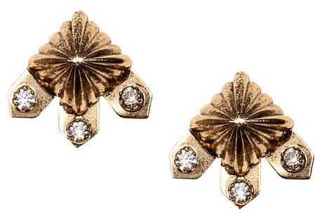 Loyola Scallop Earrings