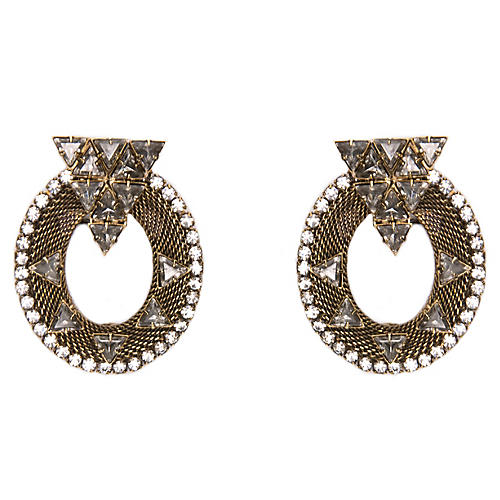 Caboto Mesh Oval Earrings