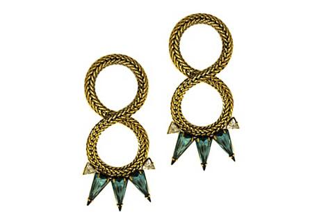 Jie Twisted Triangle Earrings
