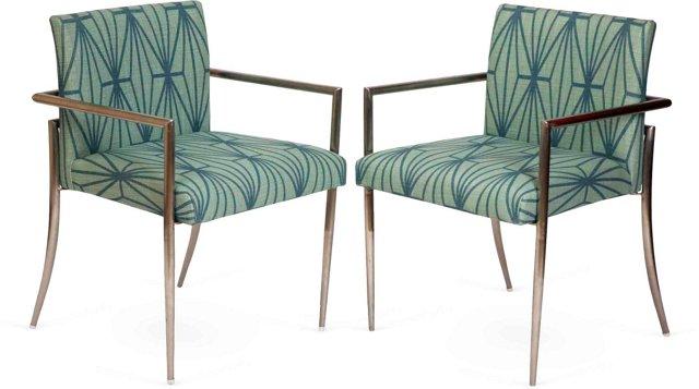 Chrome Chairs, Pair
