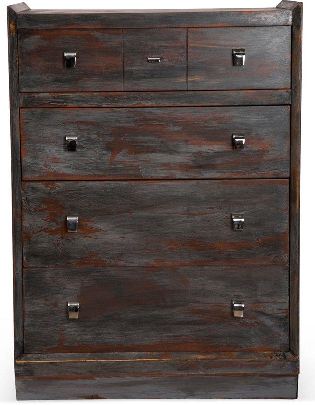 Black Dresser w/Chrome Handle