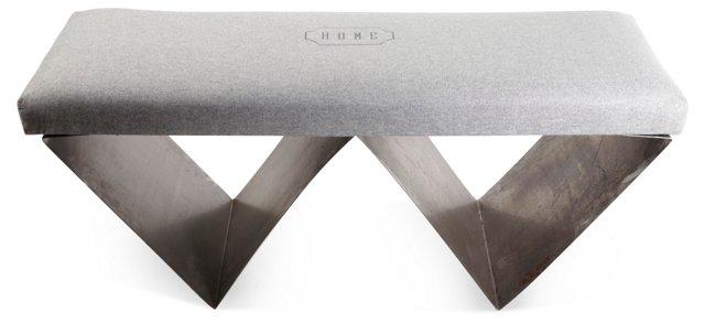 Metal W Bench