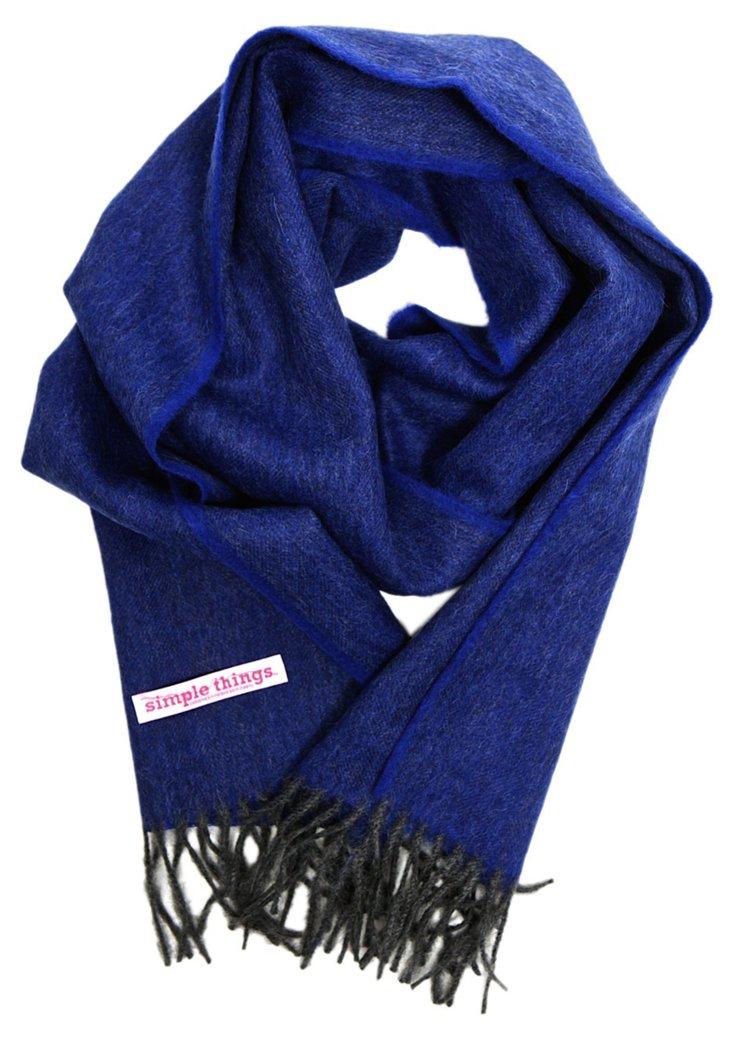 Herringbone Scarf, Blue