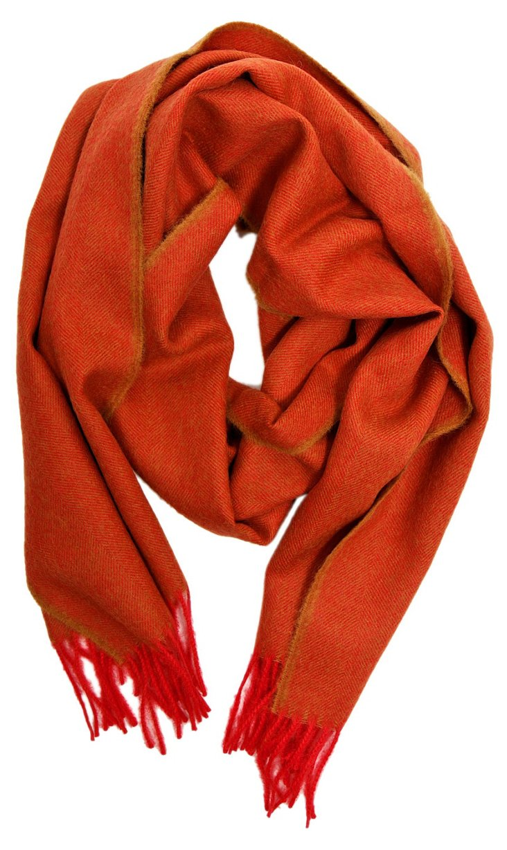 Herringbone Scarf, Orange