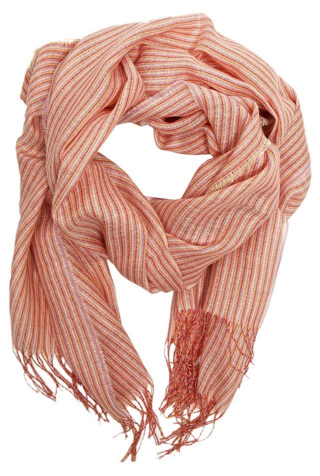 Multistripe Wrap, Pastel Pink