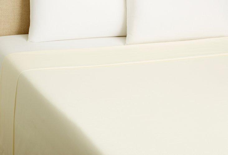 Queen Flat Sheet, Ivory