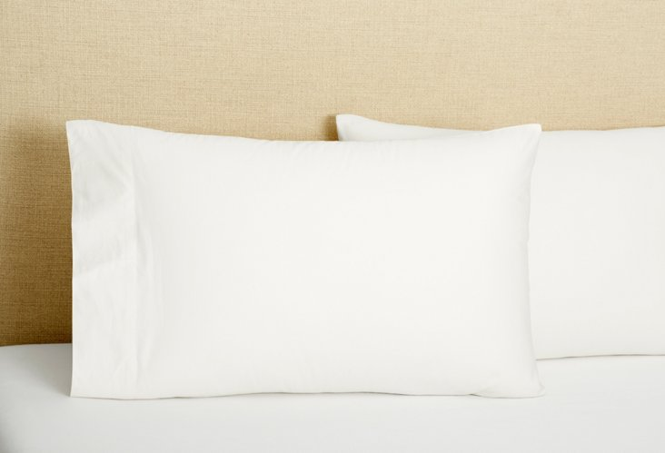Set of 2 Std/Queen Pillowcases, White