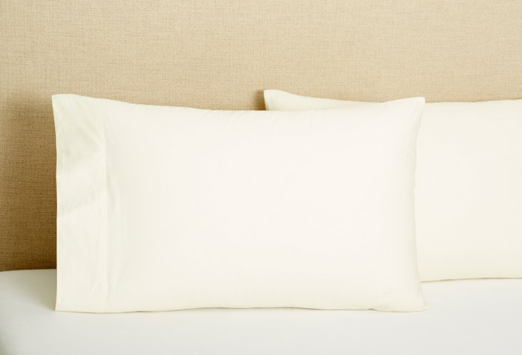 Set of 2 Std/Queen Pillowcases, Ivory