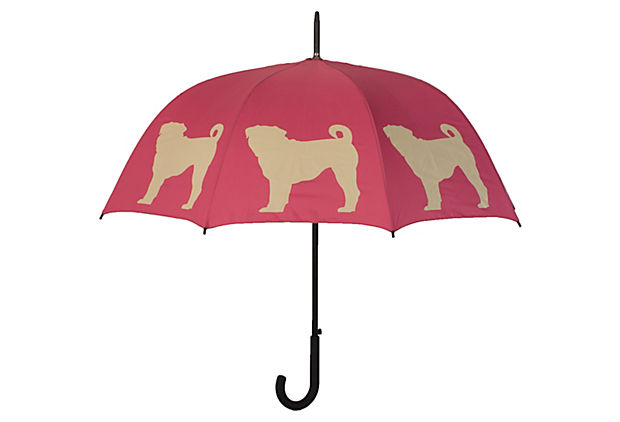 Walking Stick Umbrella, Pug