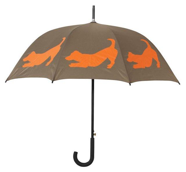 Walking Stick Umbrella, Jack Russell