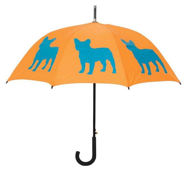 Walking Stick Umbrella, French Bulldog