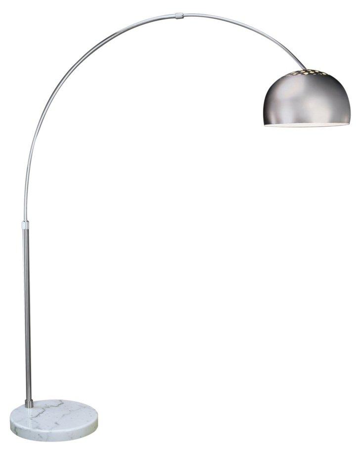 Large Mid Arc Floor Lamp, Nickel