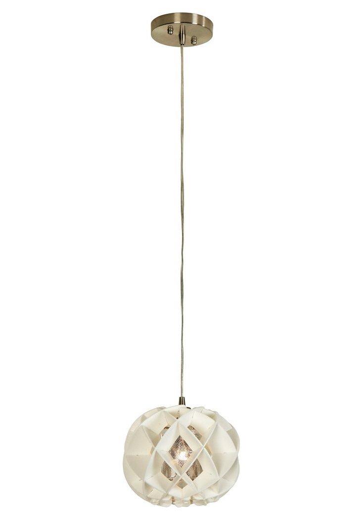 Honeycomb Oval Pendant, White