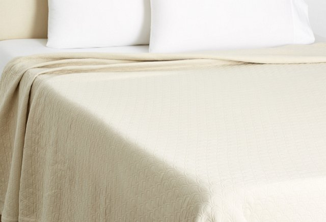 Quill Coverlet, Cream