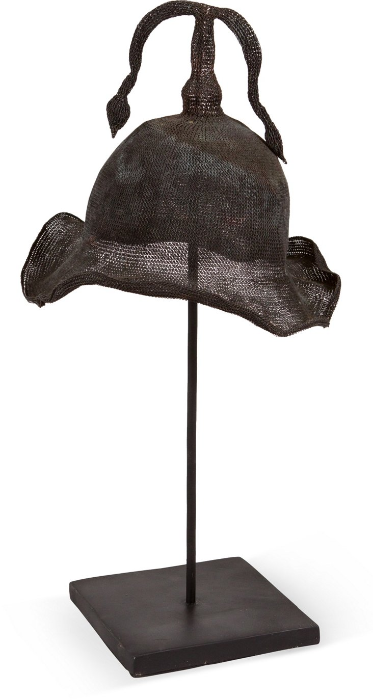 Ceremonial Metal Hat on Stand III