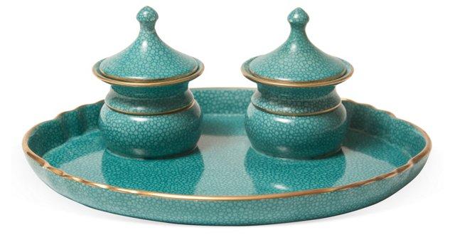 Porcelain Inkwell Set
