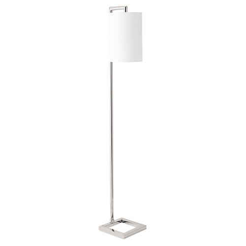Everly Floor Lamp, Silver