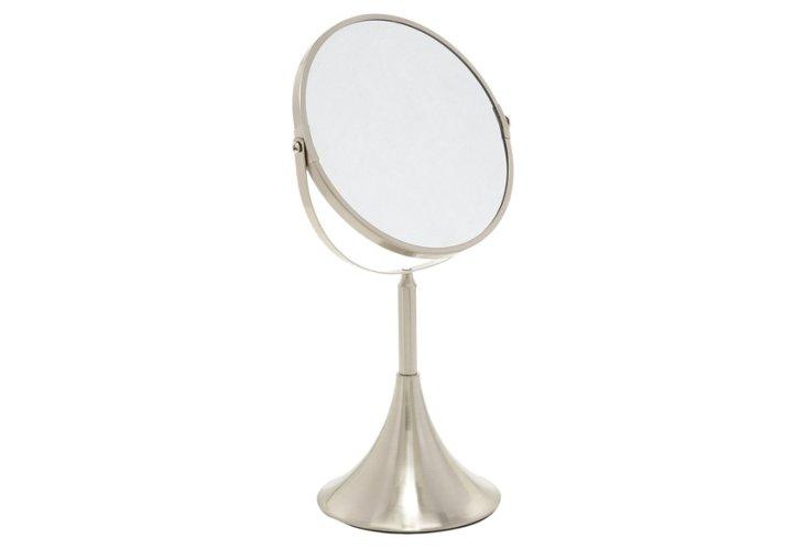 Modern Mirror, Satin Nickel/ Chrome
