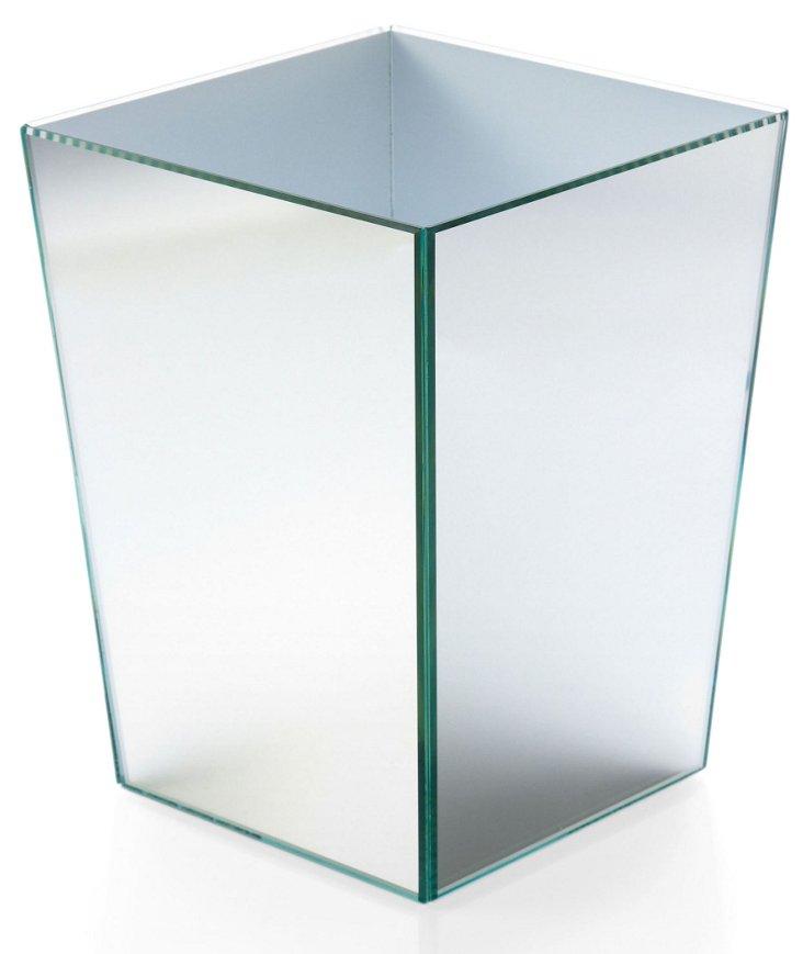 """10"""" Glass Vanity Wastebasket"""