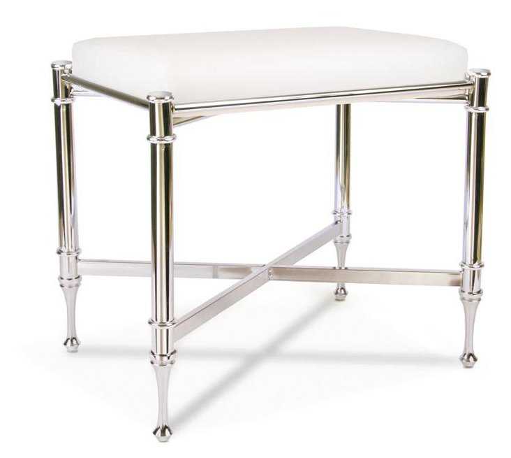 Estate Vanity Bench, Chrome