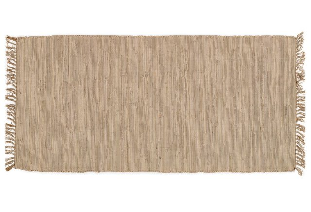 "2'6""x5' Hiskia Flat-Weave Rug, Natural"