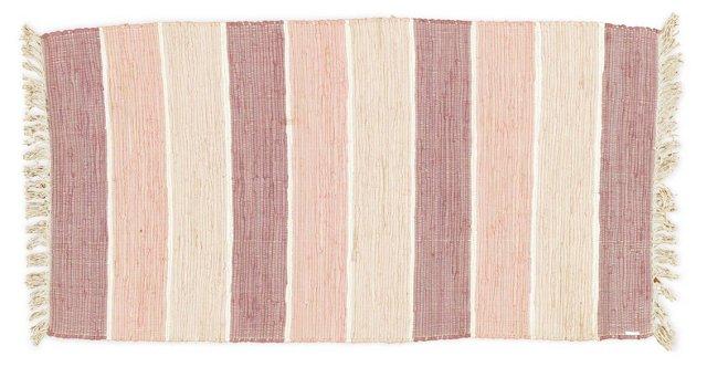 Evilda Flat-Weave Rug, Ivory/Multi