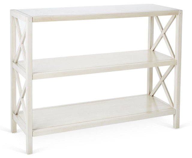 Kelsey Bookshelf, Antiqued White
