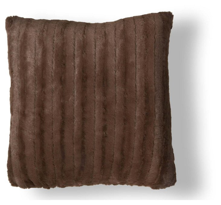 Channel 20x20 Pillow, Chocolate