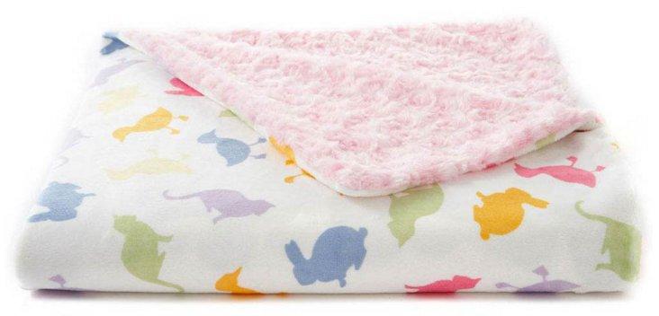 Farm Animals Baby Blanket, Pink/Multi