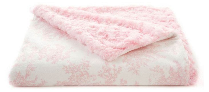 Toile Baby Blanket, Pink