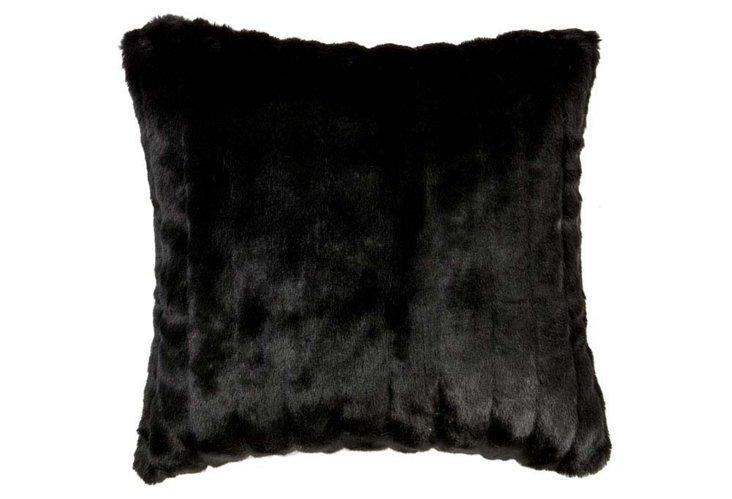Mink 20x20 Pillow, Black