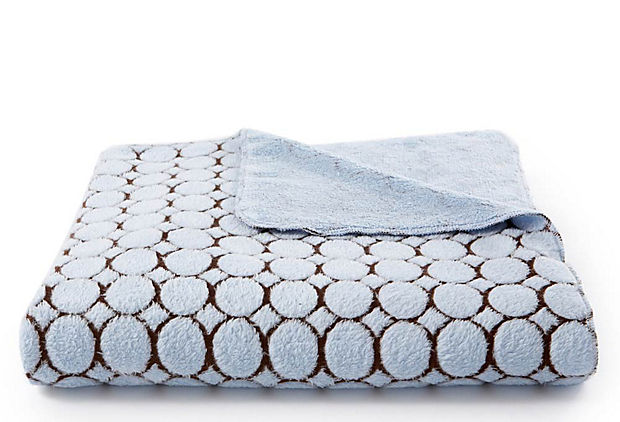 Candy Dot Swaddling Blanket, Blue