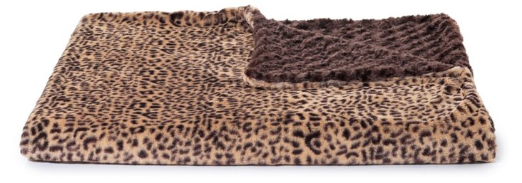 Oversize Cheetah Throw, Beige