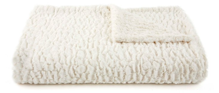 Oversize Seashell Throw, Cream