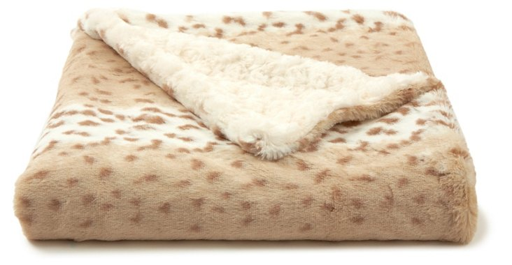 Snow Leopard Toddler Blanket