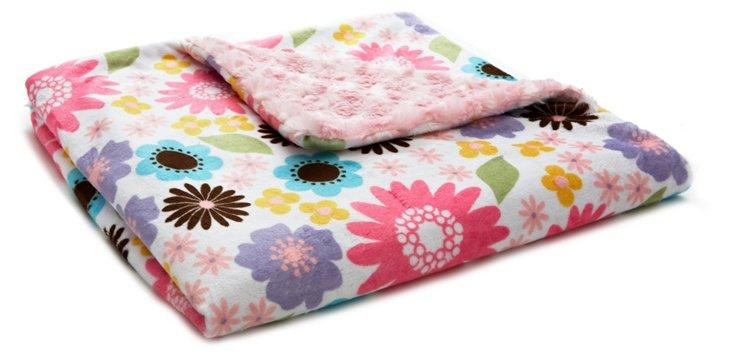 May Flowers Baby Blanket, Pink