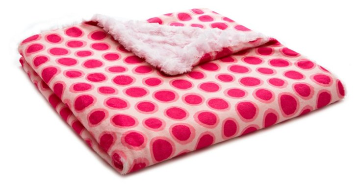 Jelly Dot Baby Blanket, Pink