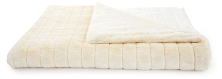 Mink Throw, Pearl