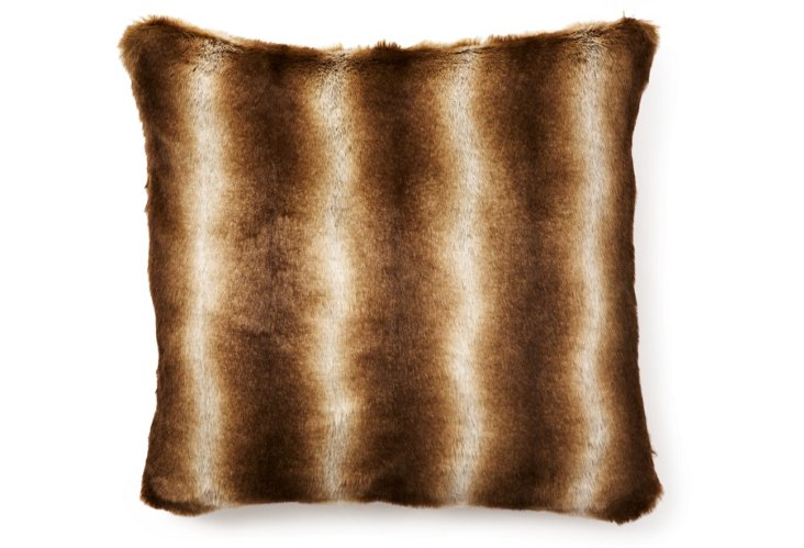 Chinchilla 20x20 Pillow, Brown