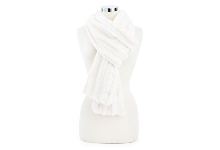 Channel Scarf, Ivory
