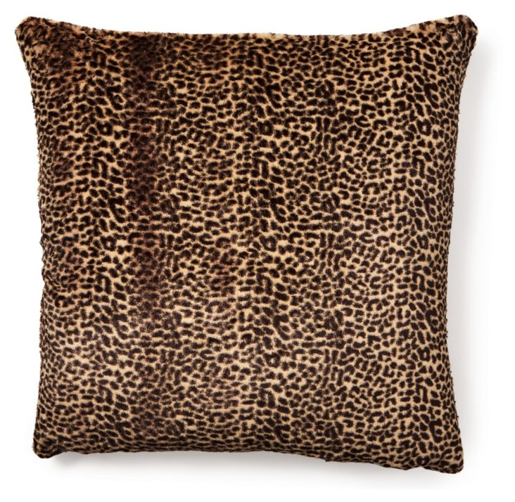 Cheetah 24x24 Pillow, Brown