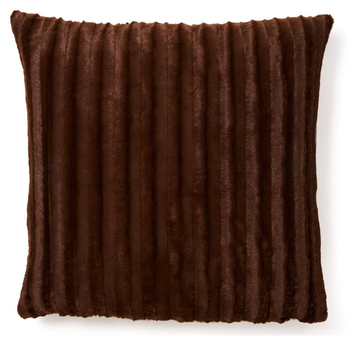 Oversize Channel 24x24 Pillow, Brown