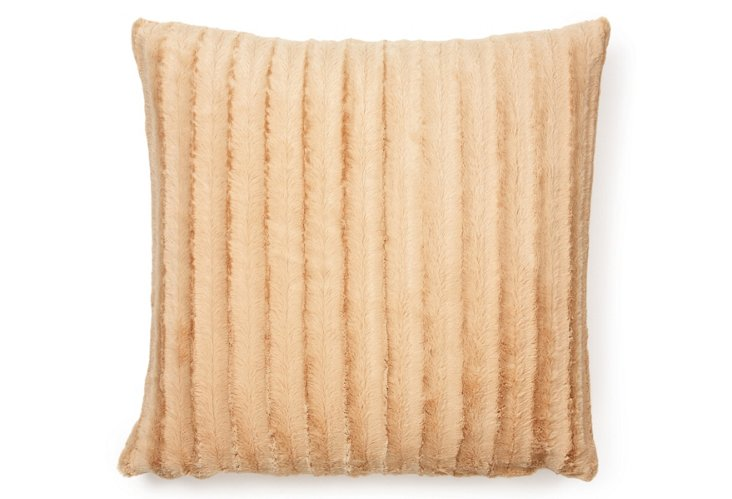 Oversize Channel 24x24 Pillow, Camel